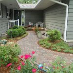 Front Entrance spruced up with a paver walk and fresh plant materials