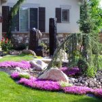 flowered landscaping to greet guests