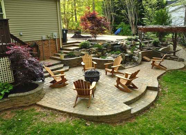 Simple planings around a patio