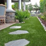 Artificial grass in landscaping